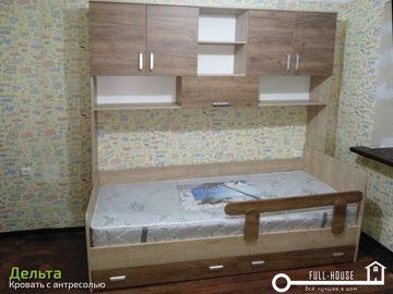 Кровать с антресолью Дельта